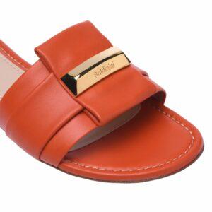 hochwertige Schuhe online kaufen - rote Pantoletten