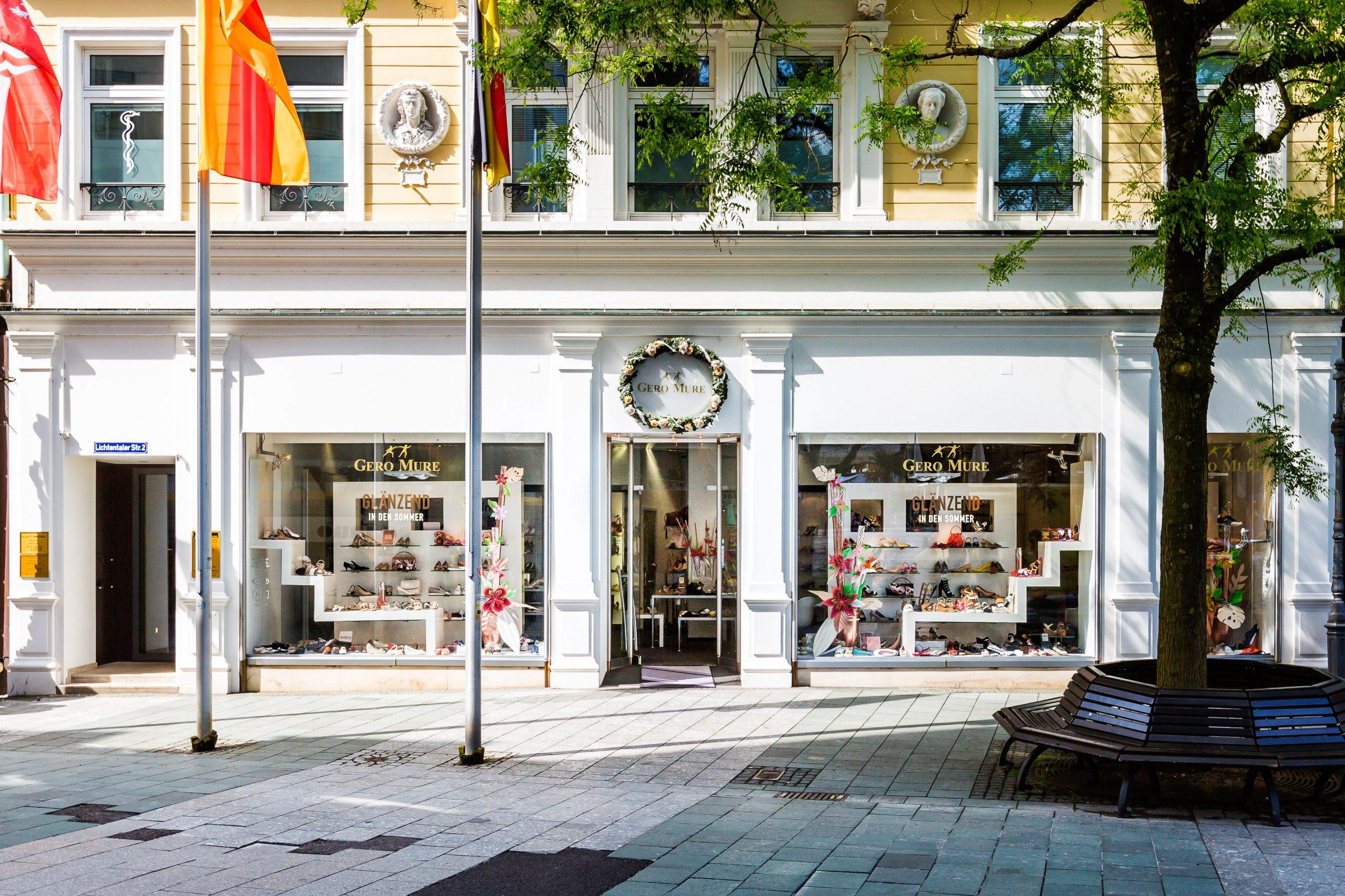 GERO MURE in der Lichtentaler Straße 2. Wir wollen Ihnen nah sein, deshalb ist eines unserer Schuhgeschäfte in Baden Baden. Wunderschöne Auswahl an tollen Schuhen.